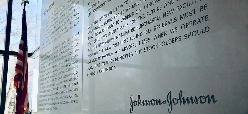 JnJ Credo placed in one of their offices